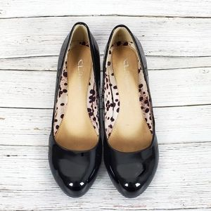 CL by Laundry Black Patent Leather Heels Size 7.5
